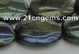 CLB654 15.5 inches 25*35mm oval AB-color labradorite beads