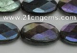 CLB659 15.5 inches 12*16mm faceted oval AB-color labradorite beads