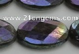 CLB663 15.5 inches 20*30mm faceted oval AB-color labradorite beads