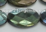 CLB664 15.5 inches 25*35mm faceted oval AB-color labradorite beads