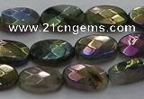 CLB674 15.5 inches 8*12mm faceted oval AB-color labradorite beads