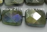 CLB690 15.5 inches 20mm faceted square AB-color labradorite beads