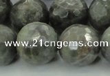 CLB715 15.5 inches 20mm faceted round labradorite gemstone beads