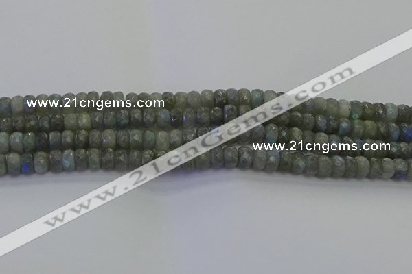CLB773 15.5 inches 5*8mm faceted rondelle labradorite beads