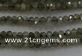 CLB794 15.5 inches 1.5*2.5mm faceted rondelle labradorite beads