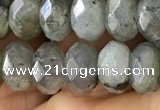 CLB886 15.5 inches 5*8mm faceted rondelle AB-color labradorite beads