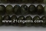 CLB958 15.5 inches 8*12mm faceted rondelle labradorite beads