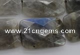 CLB97 15.5 inches 20*30mm faceted rectangle labradorite beads