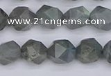 CLB982 15.5 inches 8mm faceted nuggets labradorite beads wholesale
