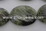 CLB99 15.5 inches 22*30mm carved oval labradorite beads