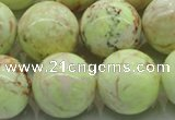 CLE206 15.5 inches 16mm round lemon turquoise beads wholesale