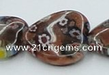 CLG559 16 inches 20*20mm heart goldstone & lampwork glass beads