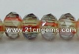 CLG56 13 inches 9*12mm faceted rondelle handmade lampwork beads