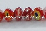 CLG63 15 inches 8*10mm faceted rondelle handmade lampwork beads