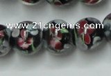 CLG754 15.5 inches 10mm round lampwork glass beads wholesale