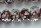 CLG767 14.5 inches 8*12mm rondelle lampwork glass beads wholesale