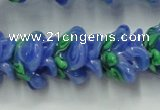CLG792 15.5 inches 11*13mm rose lampwork glass beads wholesale