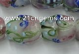 CLG827 15.5 inches 14*18mm pear lampwork glass beads wholesale