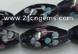 CLG872 15.5 inches 10*20mm rice lampwork glass beads wholesale