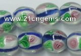CLG875 15.5 inches 12mm round lampwork glass beads wholesale