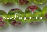 CLG877 14 inches 14mm round lampwork glass beads wholesale