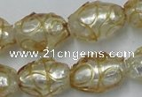 CLG881 2PCS 16 inches 12*18mm oval lampwork glass beads wholesale