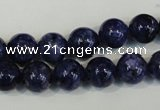 CLJ234 15.5 inches 10mm round dyed sesame jasper beads wholesale