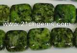 CLJ270 15.5 inches 16*16mm square dyed sesame jasper beads wholesale