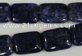 CLJ294 15.5 inches 15*20mm rectangle dyed sesame jasper beads wholesale