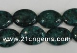 CLJ327 15.5 inches 13*18mm oval dyed sesame jasper beads wholesale