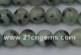CLJ402 15.5 inches 8mm round sesame jasper beads wholesale