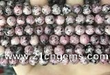 CLJ504 15.5 inches 4mm,6mm,8mm,10mm & 12mm round sesame jasper beads