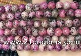 CLJ507 15.5 inches 4mm,6mm,8mm,10mm & 12mm round sesame jasper beads