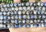 CLJ511 15.5 inches 4mm,6mm,8mm,10mm & 12mm round sesame jasper beads