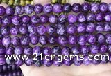 CLJ514 15.5 inches 4mm,6mm,8mm,10mm & 12mm round sesame jasper beads