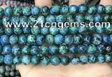 CLJ520 15.5 inches 4mm,6mm,8mm,10mm & 12mm round sesame jasper beads