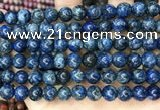 CLJ521 15.5 inches 4mm,6mm,8mm,10mm & 12mm round sesame jasper beads