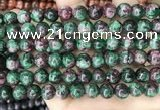 CLJ528 15.5 inches 4mm,6mm,8mm,10mm & 12mm round sesame jasper beads