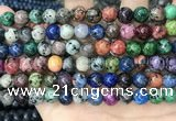 CLJ533 15.5 inches 4mm,6mm,8mm,10mm & 12mm round sesame jasper beads
