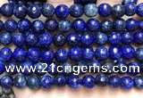 CLJ563 15.5 inches 6mm,8mm,10mm & 12mm faceted round sesame jasper beads