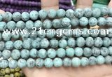 CLJ591 15 inches 8mm round matte sesame jasper beads