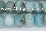 CLR103 15.5 inches 5*8mm faceted rondelle larimar gemstone beads