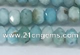 CLR109 15.5 inches 2.5*4mm faceted rondelle natural larimar beads