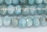 CLR110 15.5 inches 3*5mm faceted rondelle natural larimar beads