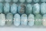 CLR111 15.5 inches 4*6mm faceted rondelle natural larimar beads