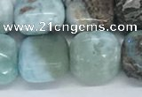 CLR125 15.5 inches 8*8mm square larimar gemstone beads