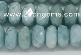 CLR140 15.5 inches 4*8mm faceted rondelle natural larimar beads