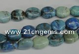 CLR214 15.5 inches 8*10mm oval larimar gemstone beads