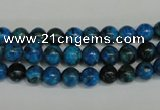 CLR301 15.5 inches 6mm round dyed larimar gemstone beads