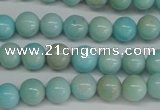 CLR350 15.5 inches 4mm round dyed larimar gemstone beads
